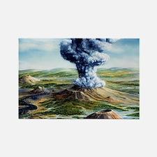 Ancient volcanic eruption Rectangle Magnet