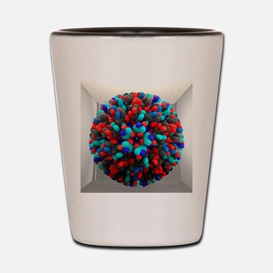 Bluetongue virus, artwork Shot Glass