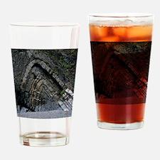 Anticlinal folded rock strata Drinking Glass
