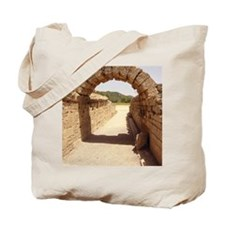 Ancient Olympia stadium entrance Tote Bag