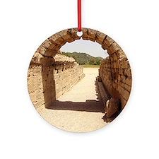 Ancient Olympia stadium entrance Round Ornament