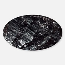 Anthracite coal Sticker (Oval)