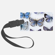 British large Blue butterfly col Luggage Tag