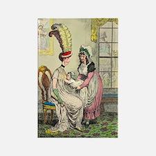 Breastfeeding, 18th-century caric Rectangle Magnet