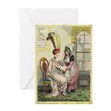 Breastfeeding, 18th-century caricatu Greeting Card