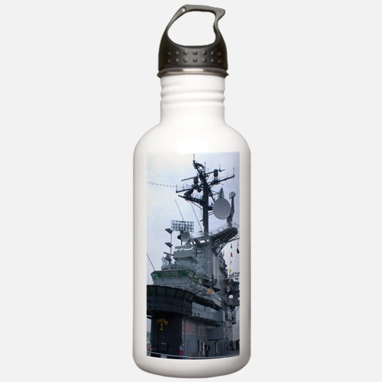 Bridge of USS Intrepid Water Bottle