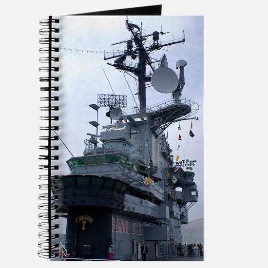 Bridge of USS Intrepid aircraft carrier Journal