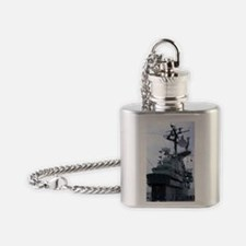 Bridge of USS Intrepid aircraft car Flask Necklace