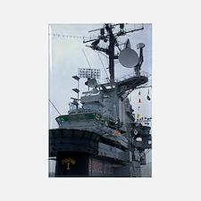 Bridge of USS Intrepid aircraft c Rectangle Magnet