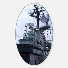 Bridge of USS Intrepid aircraft car Sticker (Oval)