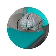 """Brain scan, conceptual artwork 3.5"""" Button"""