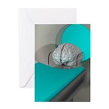 Brain scan, conceptual artwork Greeting Card