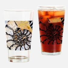 Ammonite fossil Drinking Glass
