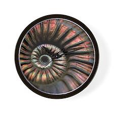 Ammonite fossil Wall Clock