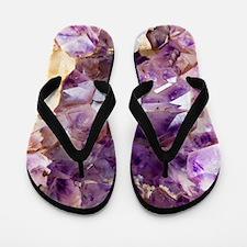 Amethyst crystals Flip Flops