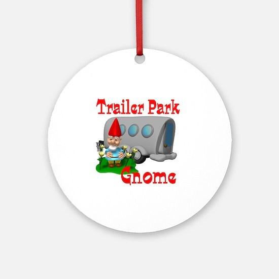 Trailer Park Gnome Ornament (Round)