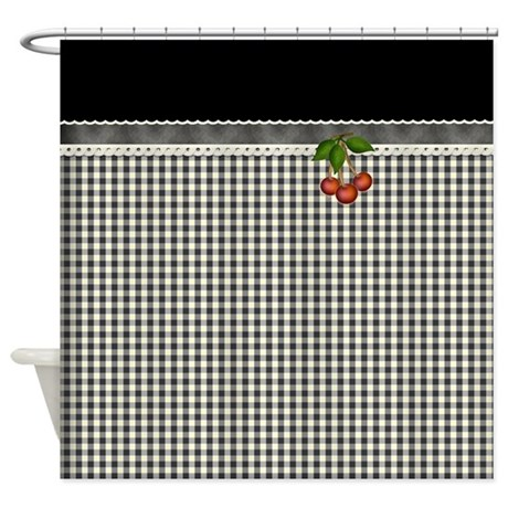 Black White Gingham Checks Shower Curtain By Hhtrendyhome