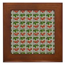 Black | White Gingham Checks Framed Tile