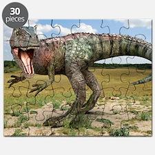 Allosaurus dinosaur, artwork Puzzle