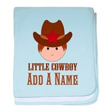 Personalized Little Cowboy baby blanket