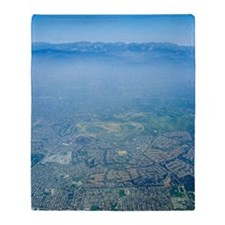 Air pollution over Los Angeles Throw Blanket