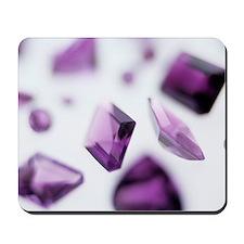 Amethyst gemstones Mousepad