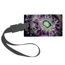 Amethyst and chalcedony Luggage Tag
