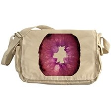 Amethyst crystals Messenger Bag