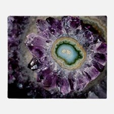 Amethyst and chalcedony Throw Blanket