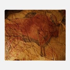 Altamira cave painting of a bison Throw Blanket