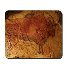 Altamira cave painting of a bison Mousepad