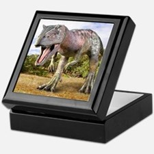 Allosaurus dinosaur, artwork Keepsake Box