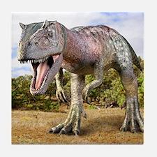 Allosaurus dinosaur, artwork Tile Coaster