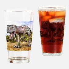 Allosaurus dinosaur, artwork Drinking Glass