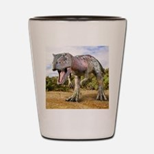 Allosaurus dinosaur, artwork Shot Glass