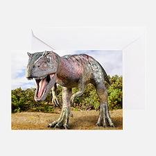 Allosaurus dinosaur, artwork Greeting Card