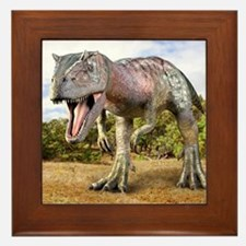 Allosaurus dinosaur, artwork Framed Tile