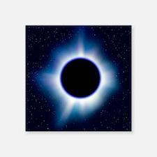 "Black hole Square Sticker 3"" x 3"""