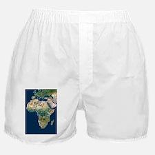 Africa, satellite image Boxer Shorts