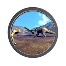 Allosaurus and Diplodocus Wall Clock