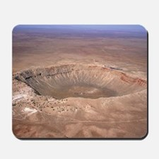 Aerial view of Meteor Crater, Arizona Mousepad
