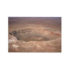 Aerial view of Meteor Crater, Ari Rectangle Magnet