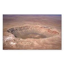 Aerial view of Meteor Crater,  Decal
