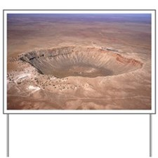 Aerial view of Meteor Crater, Arizona Yard Sign
