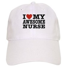 I Love My Awesome Nurse Baseball Cap