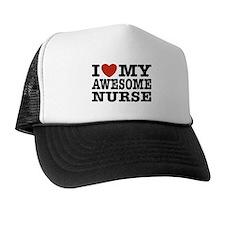 I Love My Awesome Nurse Trucker Hat