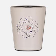 Beryllium, atomic model Shot Glass