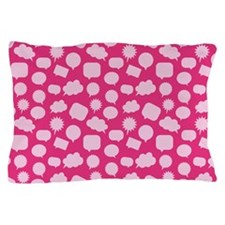 Wordy Magenta Pillow Case