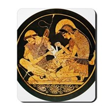 Achilles binding Patroclus' wound Mousepad