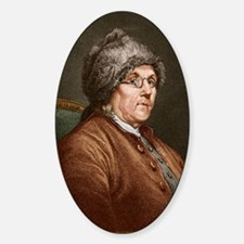 Benjamin Franklin (1706-90) Sticker (Oval)